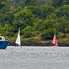 'Race To The Games' Flotilla approaching Erskine Bridge - 2 July 2014
