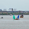'Race To The Games' Flotilla approaching Clydebank - 2 July 2014