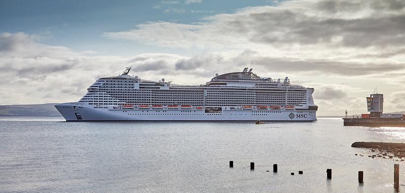'MSC Meraviglia' off Greenock Esplanade - 29 August 2018