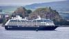 'Azamara Journey' at Dumbarton Rock - 24 June 2020