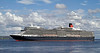 Cruise Ship - Queen Elizabeth - Off Greenock Ocean Terminal - 2 August 2012