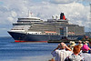 Cruise Ship - Queen Elizabeth - Greenock Ocean Terminal - 2 August 2012