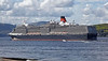Cruise Ship - Queen Elizabeth Departing Greenock - 2 August 2012
