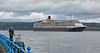 'Queen Elizabeth' off Greenock Esplanade - 30 June 2016
