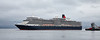 'Queen Elizabeth' off Greenock Esplanade - 9 July 2017