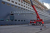 Gangway loading on the Queen Mary 2 - Ocean Terminal - 15 May 2013