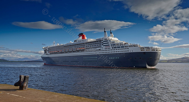 Cruise Ship - Queen Mary 2 at Greenock Ocean Terminal - 15 May 2013