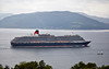 'Queen Victoria' from Faulds Park in Gourock - 29 May 2014