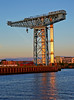 Titan Crane in the Setting Sun from the PS Waverley - 20 July 2014