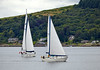 Yachts Racing off Tighnabruaich from PS Waverley - 20 July 2014