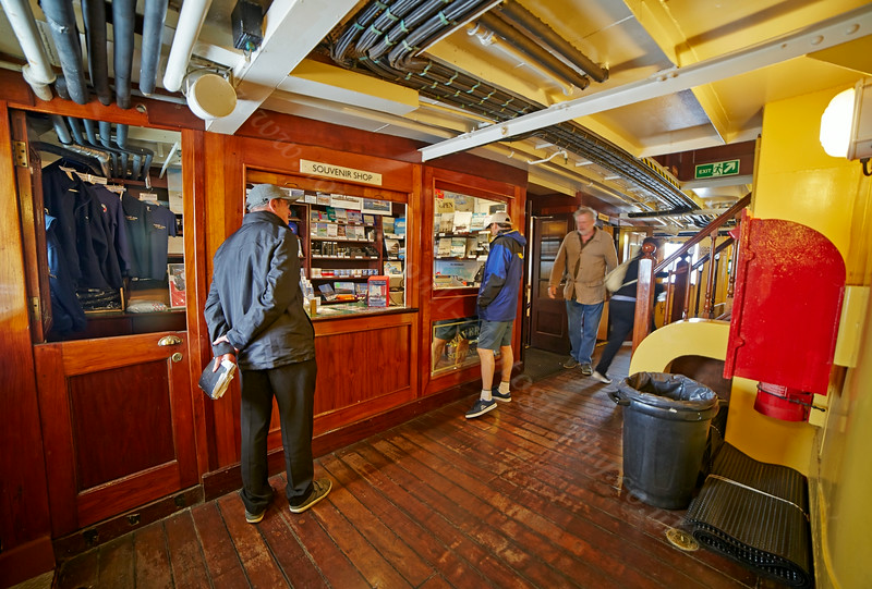 Souvenir Shop Aboard the PS Waverley - 20 July 2014