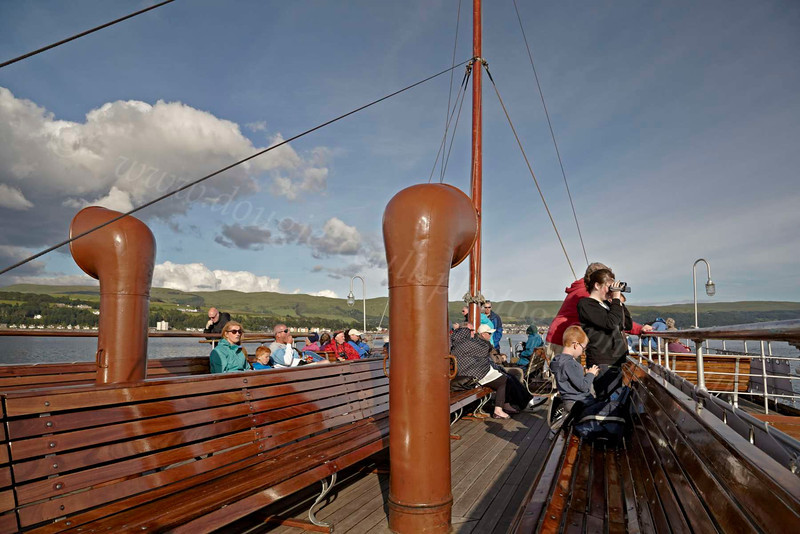 Upper Deck on the PS Waverley - 12 July 2012