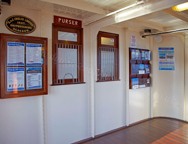 Purser's Office on the PS Waverley - 12 July 2012