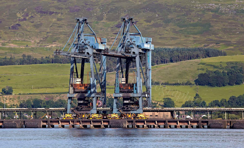 From PS Waverley - Hunterston Cranes - 12 July 2012