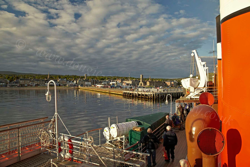 PS Waverley Arrives at Helensburgh in the Setting Sun - 12 July 2012