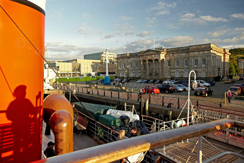 PS Waverley - Custom House Quay in Greenock - 12 July 2012