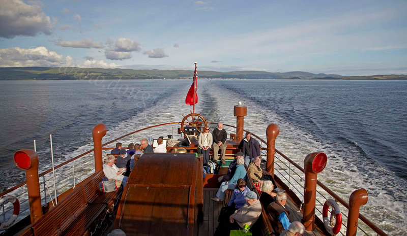PS Waverley - Largs Fades in Our Stern - 12 July 2012