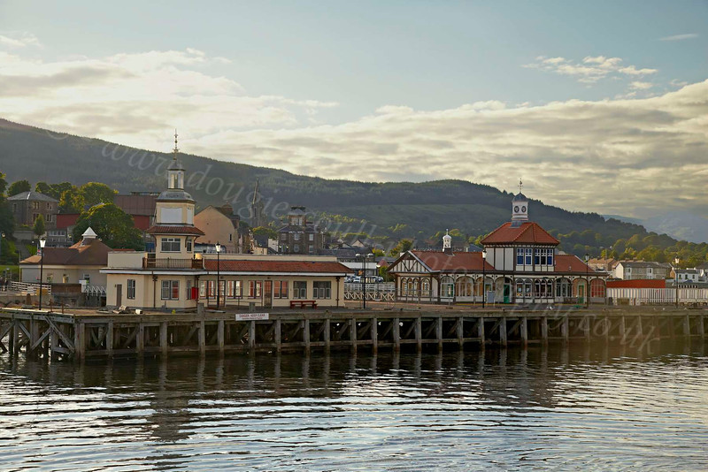 Dunoon Pier from PS Waverley - 12 July 2012