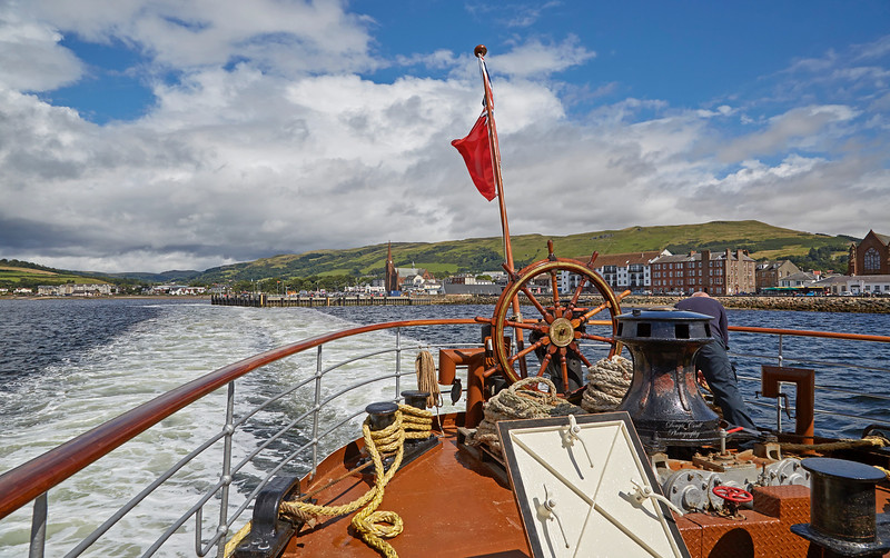 Departing Largs on the PS Waverley Cruise - 3 August 2017