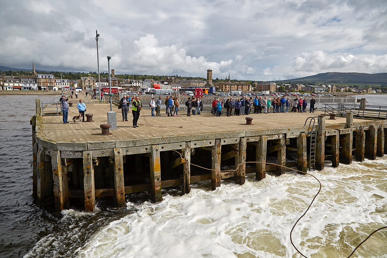 Arriving at Helensburgh Pier from PS Waverley Cruise - 3 August 2017