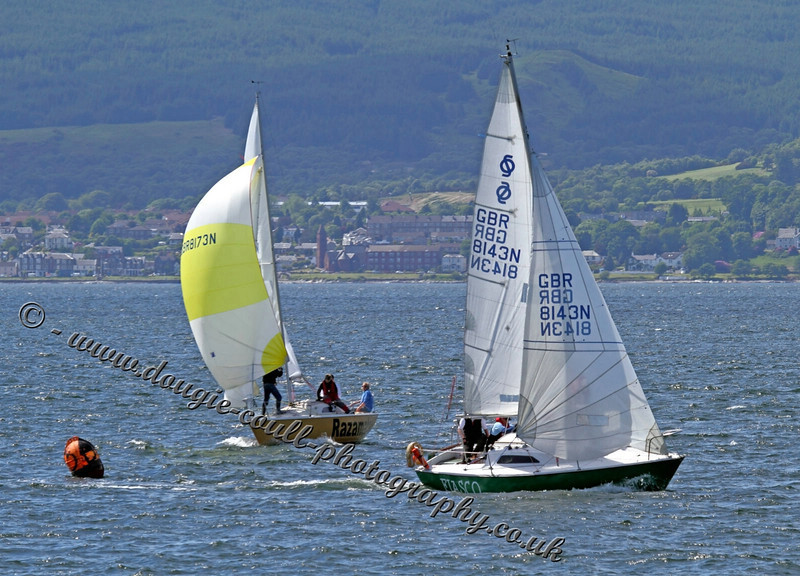 Yachts Racing on Rive Clyde