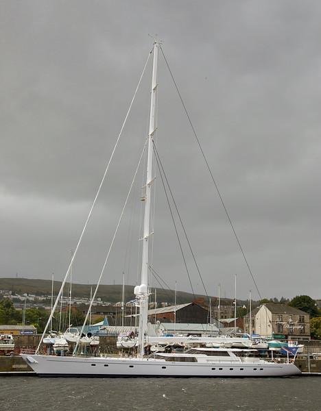 'Hyperion' at James Watt Dock Marina - 19 July 2020