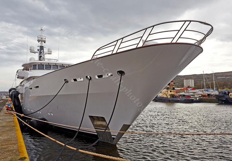 Superyacht Hampshire II in James Watt Dock - 17 April 2014