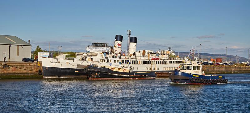 'TS Queen Mary' in James Watt Dock in Greenock - 15 May 2016