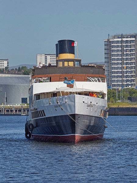 TS Queen Mary arriving at Pacific Quay - 28 June 2019