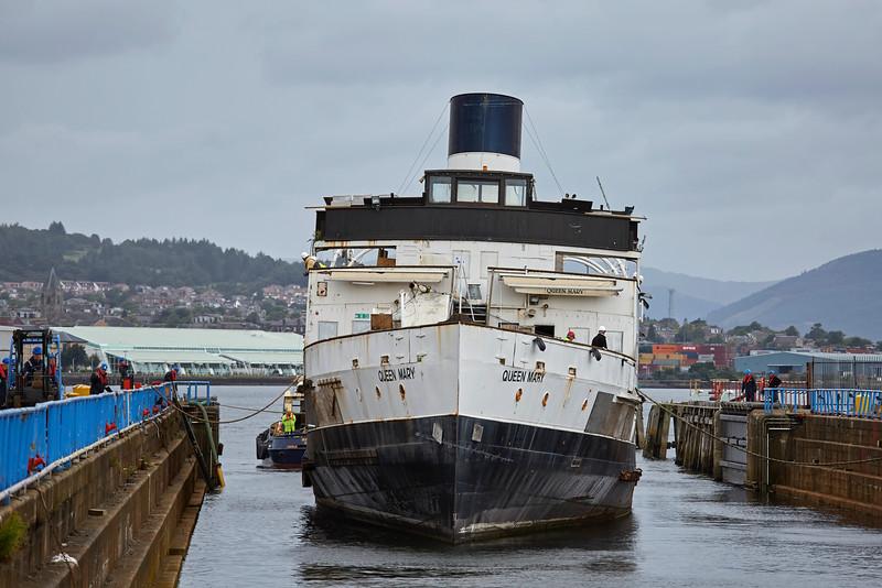 TS Queen Mary at Garvel Dry Dock - 1 September 2016
