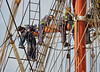 Climbing the Rigging aboard the Stavros S Niarchos at Greenock - 18 April 2016