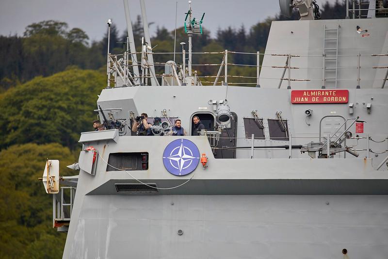Almirante Juan de Borbon (F102) off Rhu - 8 May 2019