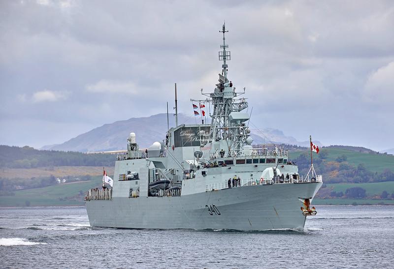 HMCS St. John's (FFH 340) off Greenock - 5 May 2019
