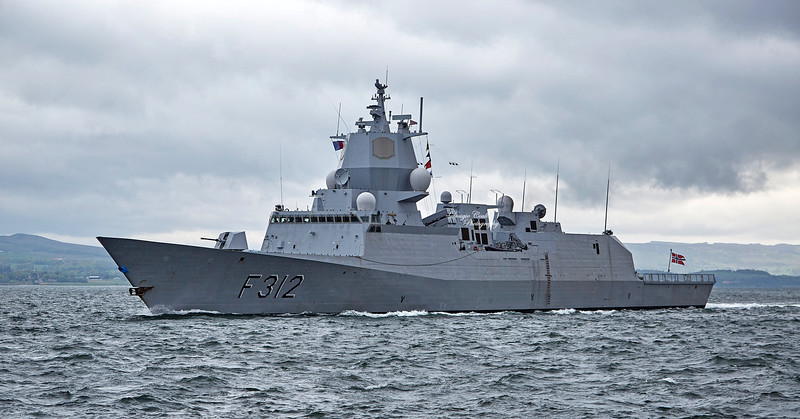 HNoMS Otto Sverdrup (F312) off East India Harbour - 8 May 2019