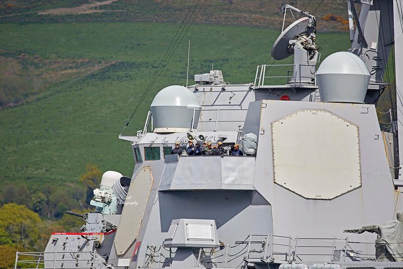 USS Roosevelt (DDG-80) at Rhu Spit - 4 May 2019