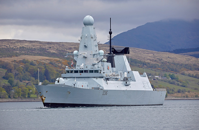 HMS Defender (D36) off Rhu - 8 May 2019