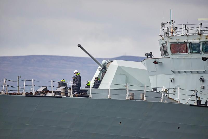 HMCS St. John's (FFH 340) off Greenock - 8 May 2019