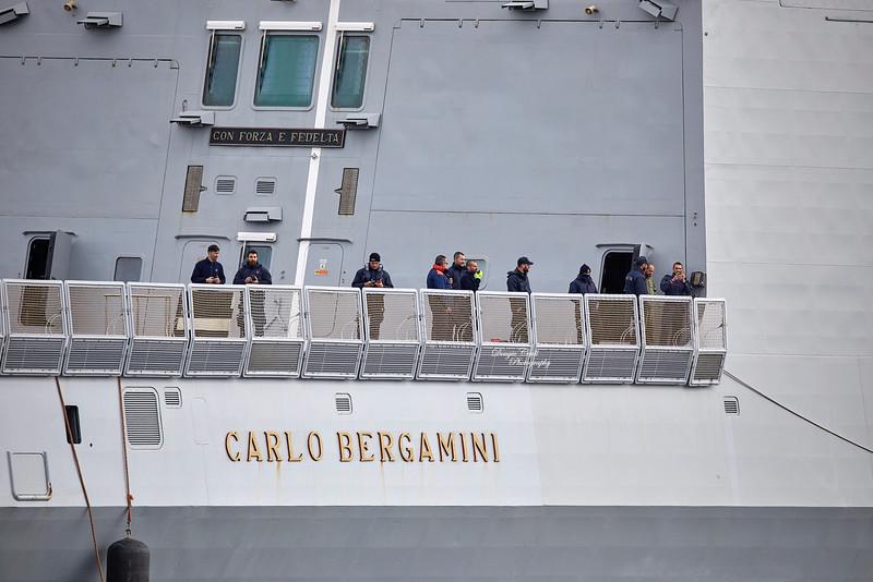 ITS Carlo Bergamini (F590) at Greenock - 5 May 2019