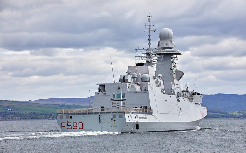 ITS Carlo Bergamini (F590) at Greenock - 5 May 2019