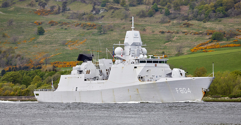 HNLMS De Ruyter (F804)) passing Erskine Bridge - 4 May 2019