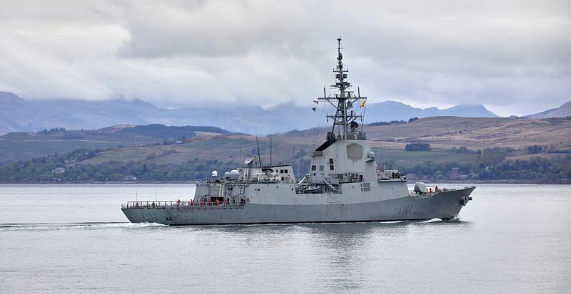 Almirante Juan de Borbon (F102) off Gourock - 6 May 2019