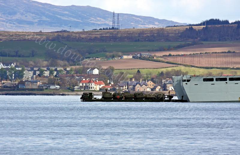 RFA Mounts Bay Loading Vehicles - Off Greenock Esplanade - 16 April 2012
