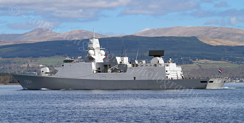 HNLMS De Ruyter (F804) - Off Greenock Esplande - 16 April 2012
