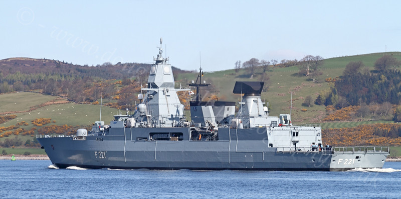 FGS Hessen (F221) - Off Greenock Esplande - 16 April 2012