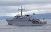 HNLMS Willemstad - M864 - Off Port Glasgow Departing the Clyde - 18 October 2012