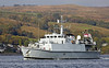 HMS Blyth (M111) Approaching Rhu Spit - 7 October 2013