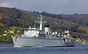 HMS Brocklesby (M33) Approaching Rhu Spit - 7 October 2013