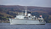 HMS Cattistock (M31) Approaching Rhu Spit - 7 October 2013