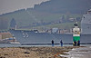 USS Leyte Gulf (CG55) passing Rhu Spit with Onlookers - 30 March 2014