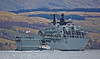 HMS Bulwark (L15) with SD Resourceful bound for Faslane - 27 March 2014